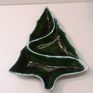 Atlantic mold christmas tree divided serving dish